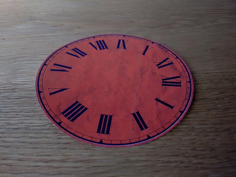 Clock face cutout