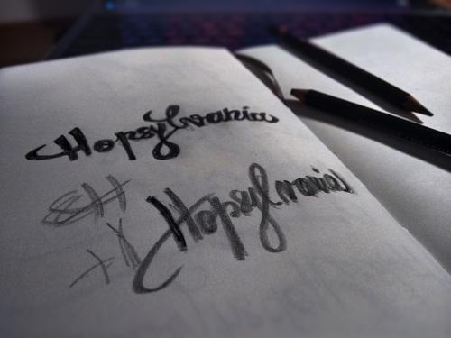 Pencil lettering