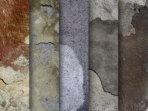 Eroded wall