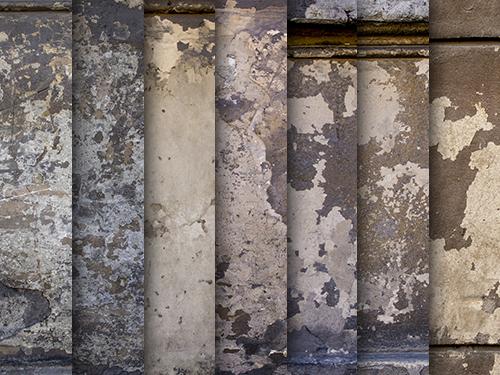 Exfoliated wall