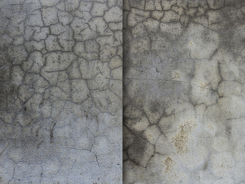 Soaked wall cracks