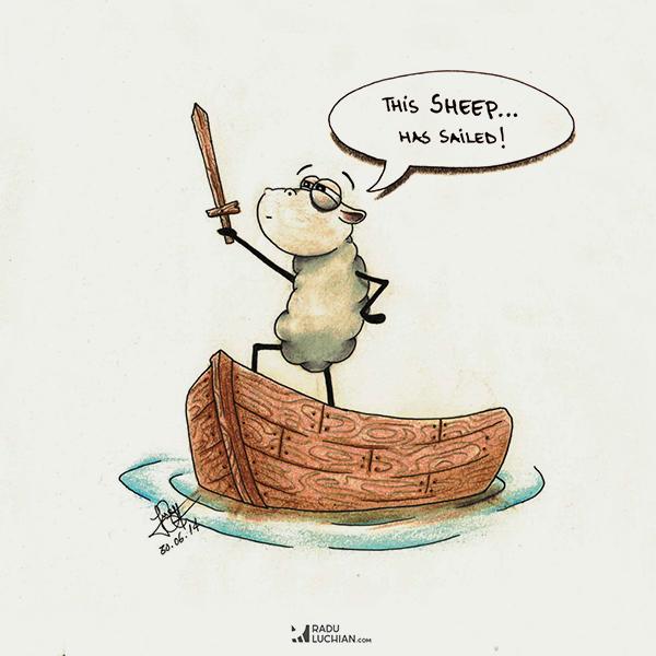This sheep has sailed